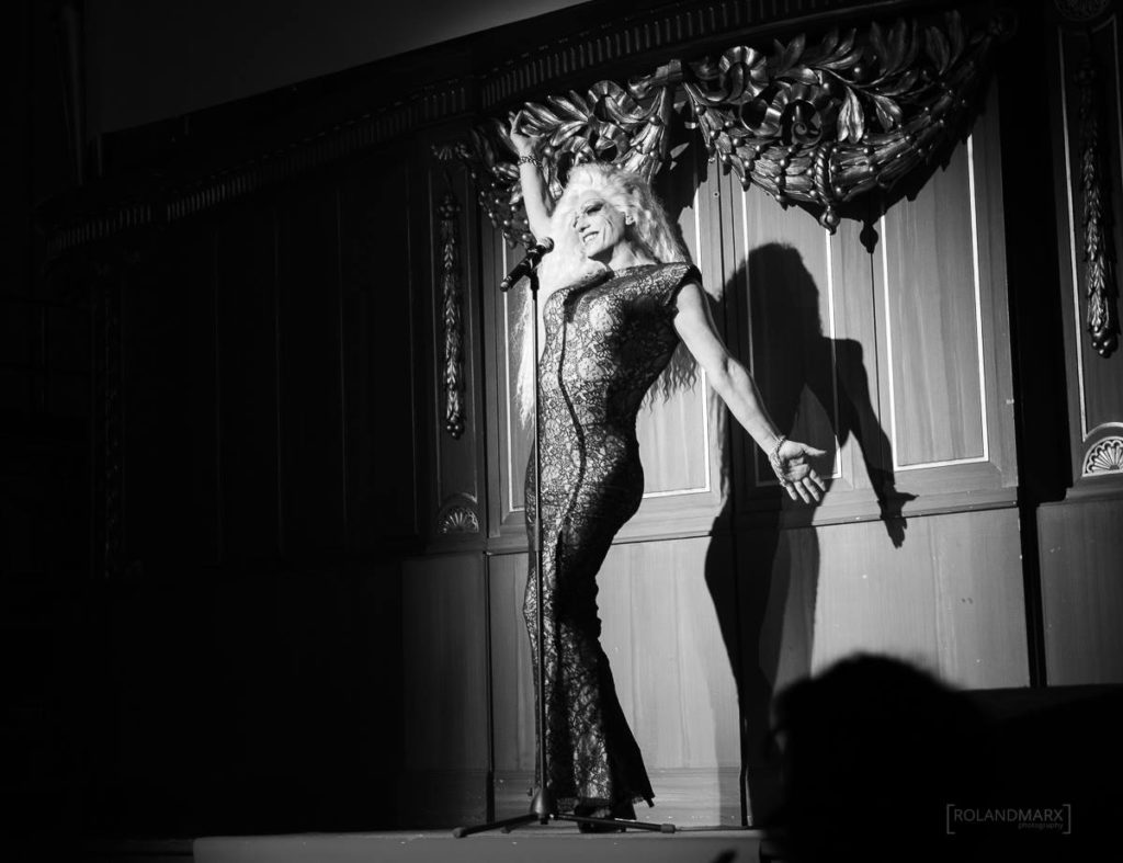 Patronesse Miss Candy am Tuntenball 2018. Foto: Roland Marx